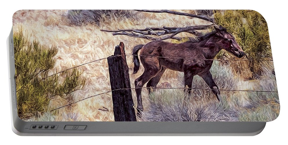 Animal Portable Battery Charger featuring the photograph Pony by Maria Coulson