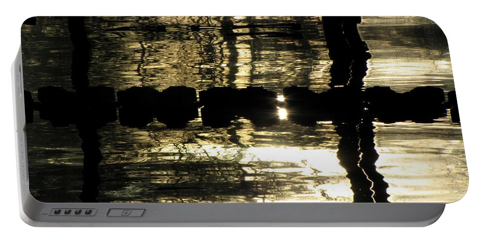 Swimming Portable Battery Charger featuring the photograph Pool Reflections Four by Sarah Houser