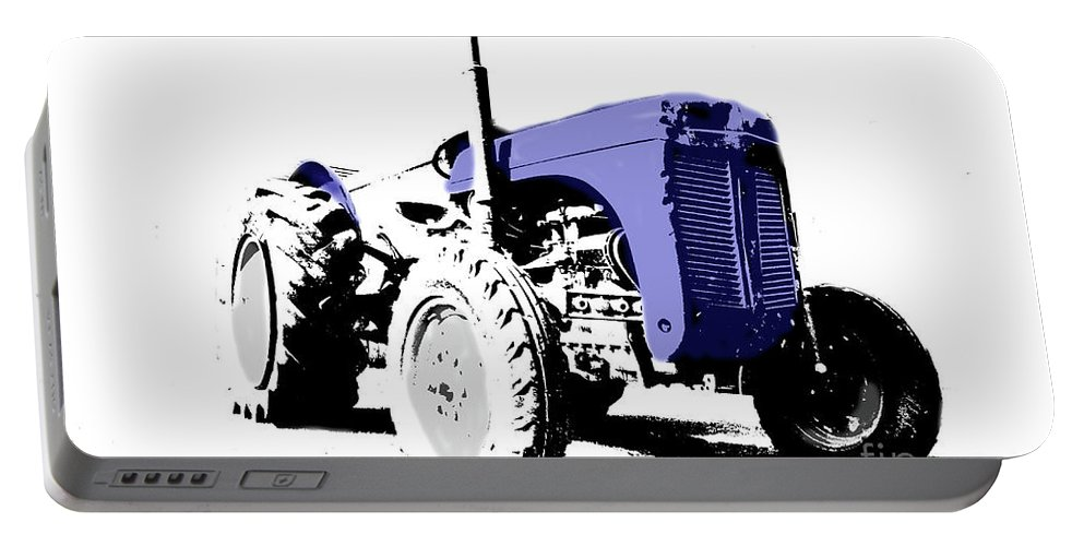 Tractor Portable Battery Charger featuring the photograph Pop Art Fergie by Rob Hawkins