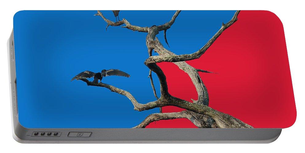 Birds Portable Battery Charger featuring the digital art Pop Art by Robert Meanor