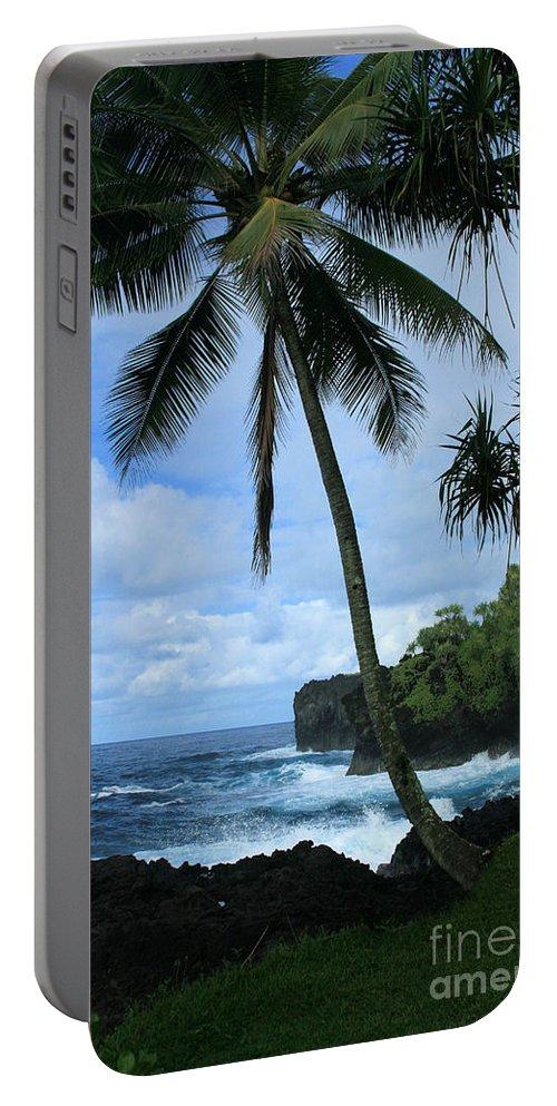 Aloha Portable Battery Charger featuring the photograph Poponi Ulaino Mokupupu Maui North Shore Hawaii by Sharon Mau