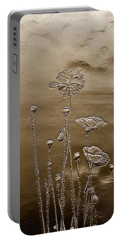Portable Battery Charger featuring the photograph Poppies by Leanne Lei
