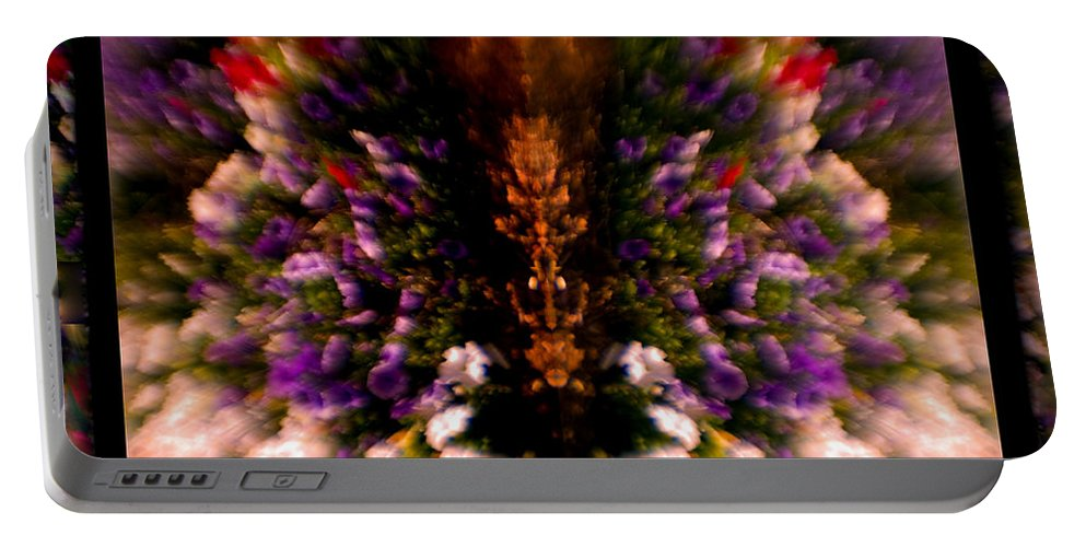 Flowers Portable Battery Charger featuring the photograph Popping Flowers by Madeline Ellis