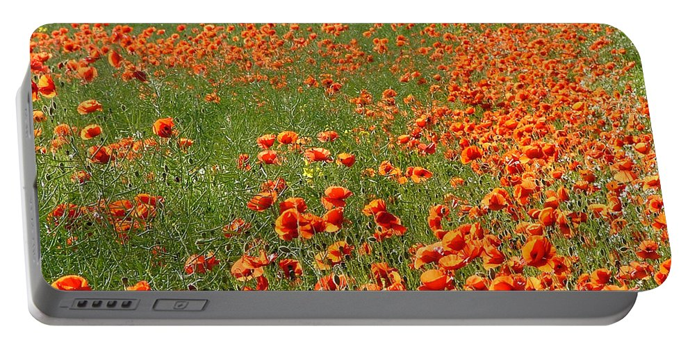 Poppy Portable Battery Charger featuring the photograph Poppy Field by Bob Kemp