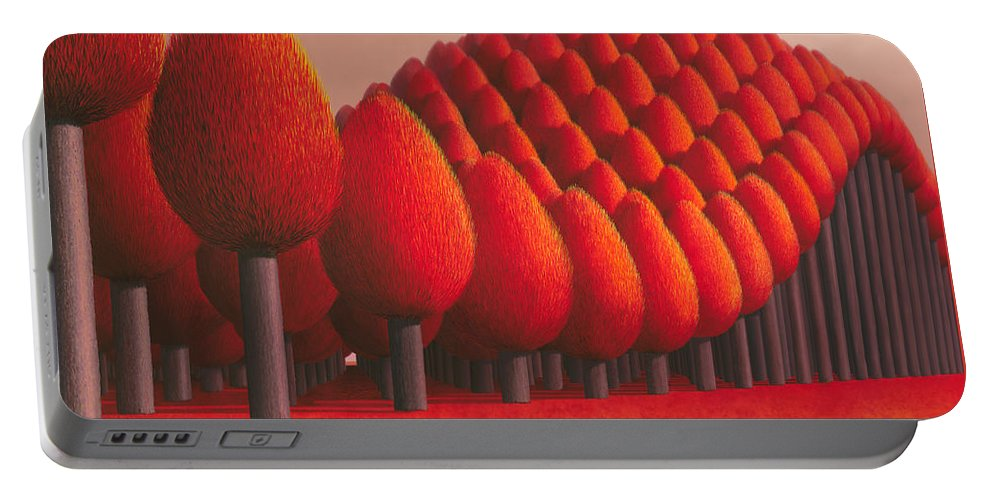 Tree Portable Battery Charger featuring the painting Populus Flucta by Patricia Van Lubeck