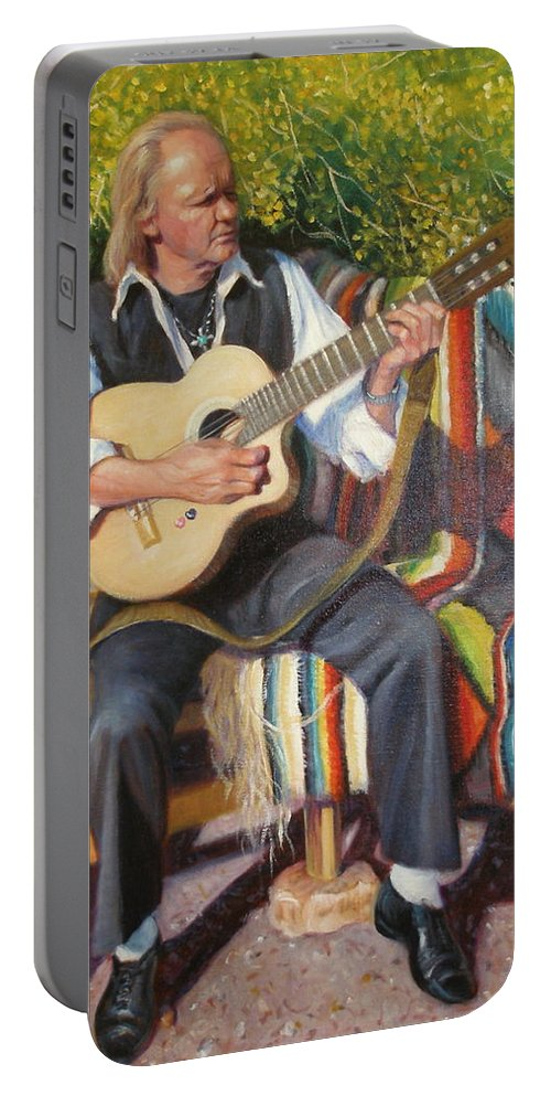 Realism Portable Battery Charger featuring the painting Por Tu Amor by Donelli DiMaria