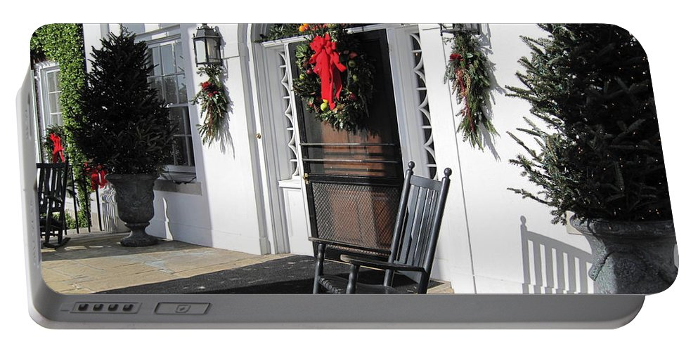 Photography Portable Battery Charger featuring the photograph Porch At Boone Hall Plantation Charleston Sc by Susanne Van Hulst