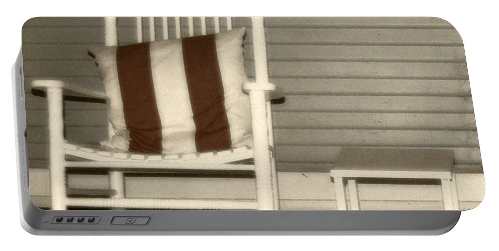 Rocking Chair Portable Battery Charger featuring the photograph Porch Rocker by Debbi Granruth