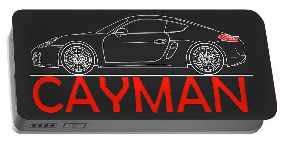 Porsche Cayman Phone Case Portable Battery Charger featuring the photograph Porsche Cayman Phone Case by Mark Rogan