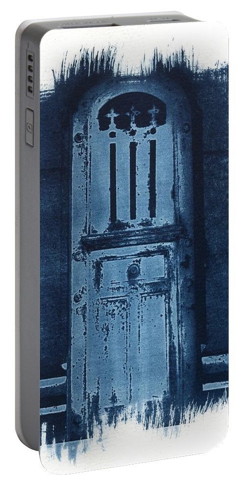 Cyanotype Portable Battery Charger featuring the photograph Portals by Jane Linders