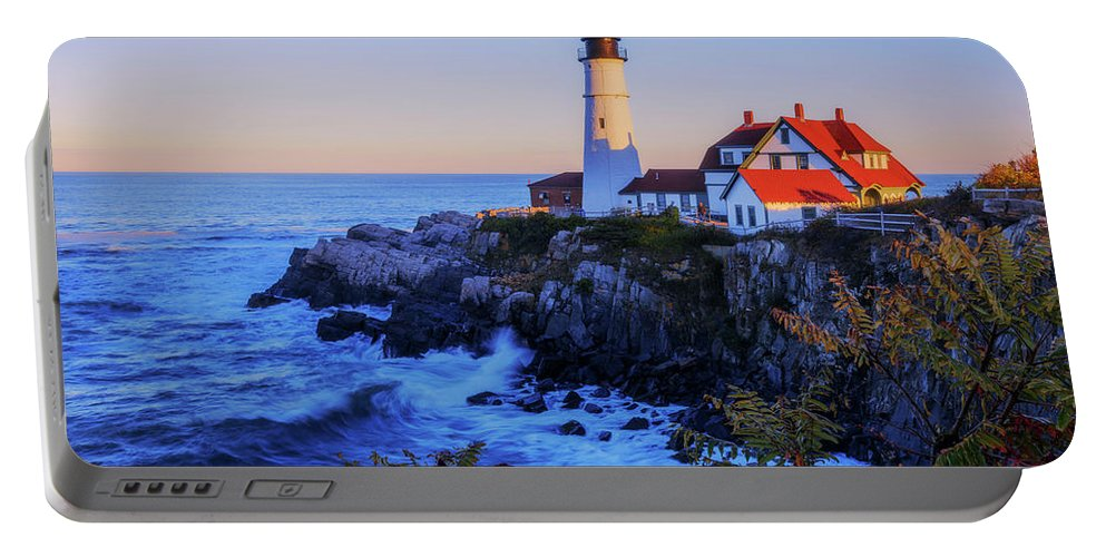 Portland Head Light Portable Battery Charger featuring the photograph Portland Head Light II by Chad Dutson