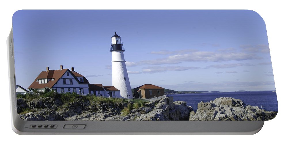 Portland Head Lighthouse Portable Battery Charger featuring the photograph Portland Head Lighthouse by Phyllis Taylor