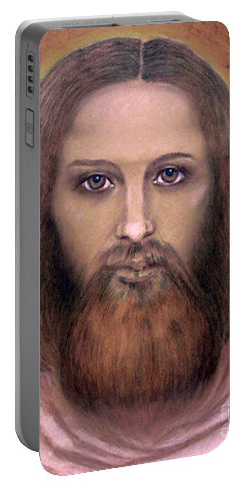 Portrait Portable Battery Charger featuring the painting Portrait by Jasna Dragun