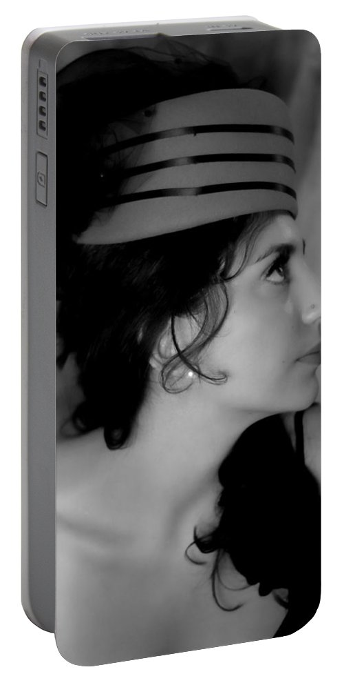 Portrait Portable Battery Charger featuring the photograph Portrait Of A Lady by Donna Blackhall