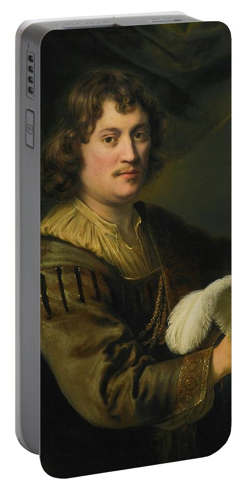 Ferdinand Bol Dordrecht 1616 - 1680 Amsterdam Portrait Of A Man Portable Battery Charger featuring the digital art Portrait Of A Man by Mark Carlson