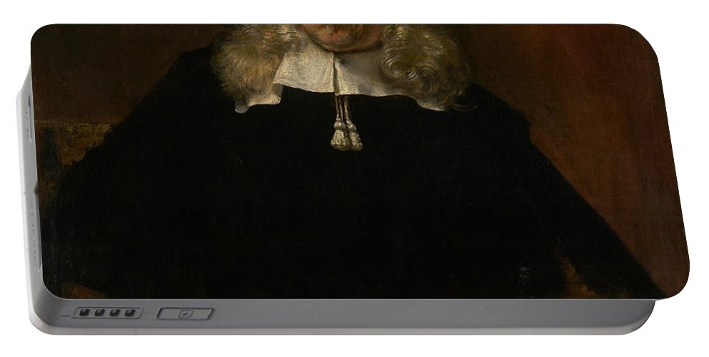 Rembrandt Portable Battery Charger featuring the painting Portrait Of A White-haired Man by Rembrandt