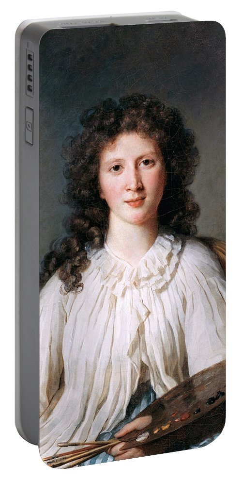 Marie Bouliard Portable Battery Charger featuring the painting Portrait Of Adelaide Binart by Marie Bouliard