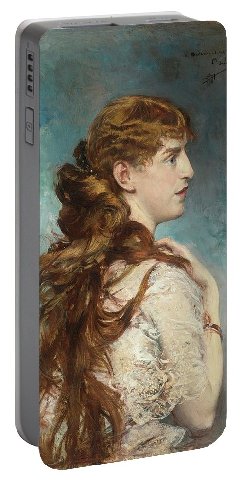 Giovanni Boldini Portable Battery Charger featuring the painting Portrait Of Harriet Valentine by Giovanni Boldini