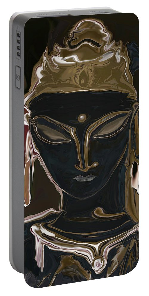 Art Portable Battery Charger featuring the digital art Portrait Of Vajrasattva by Rabi Khan