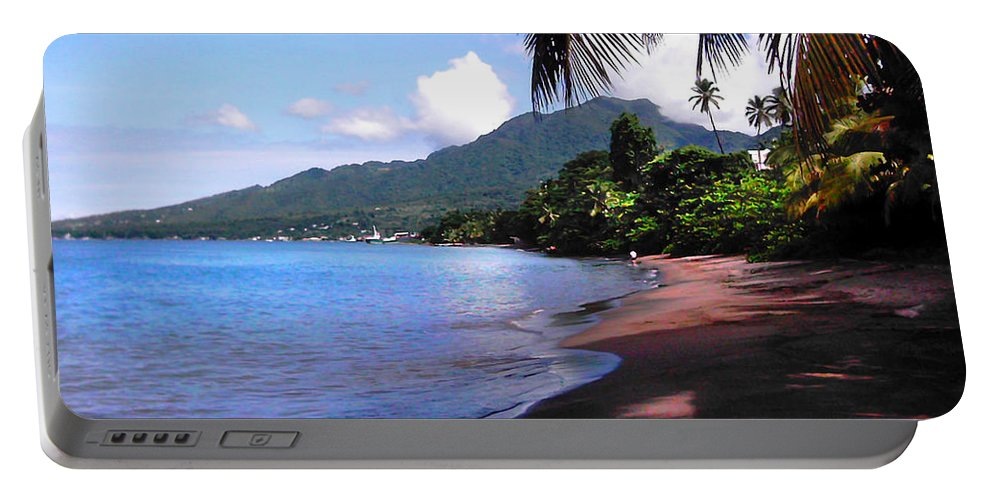 Porthsmouth Portable Battery Charger featuring the photograph Portsmouth Shore On Dominica Filtered by Duane McCullough