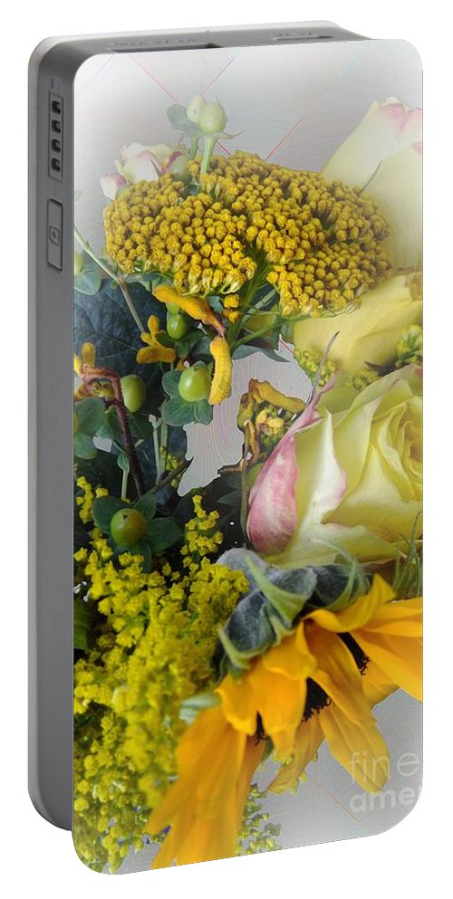 Bouquet Portable Battery Charger featuring the photograph Posies Picturesque by RC DeWinter