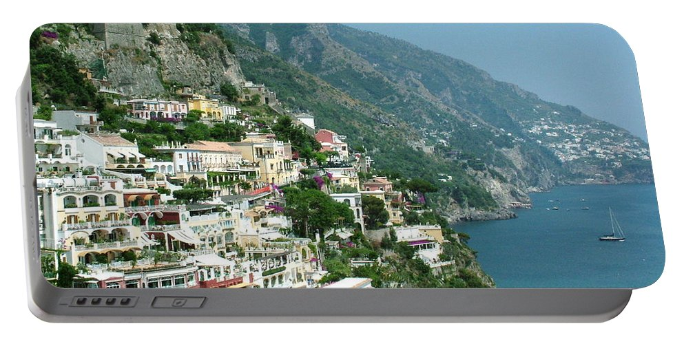 Positano Portable Battery Charger featuring the photograph Positano In The Afternoon by Donna Corless