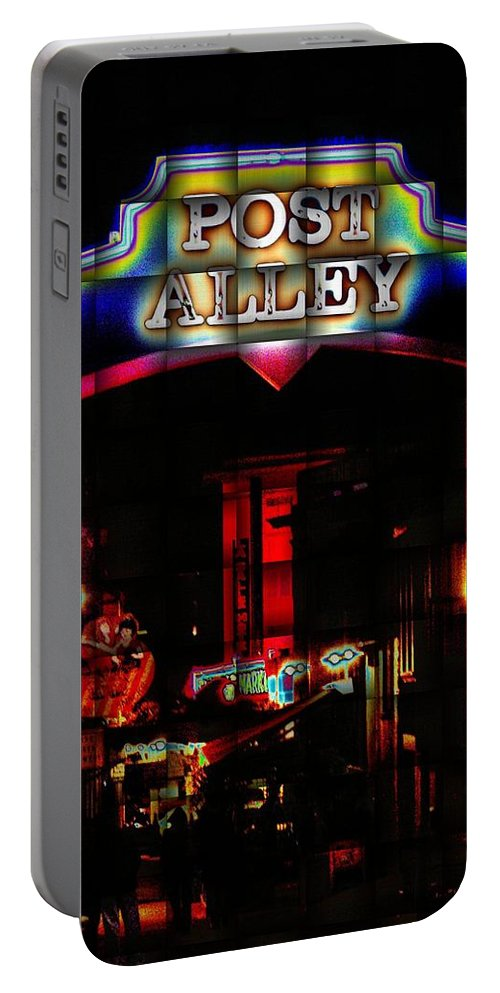 Seattle Portable Battery Charger featuring the photograph Post Alley Weave by Tim Allen