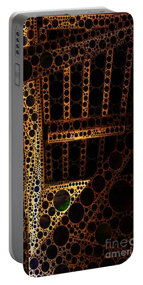 Abstract Portable Battery Charger featuring the digital art Post And Beam by Ron Bissett
