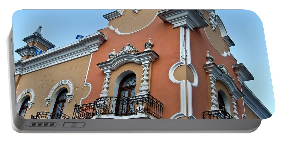 Post Portable Battery Charger featuring the photograph Post Office Guatamala City 4 by Douglas Barnett