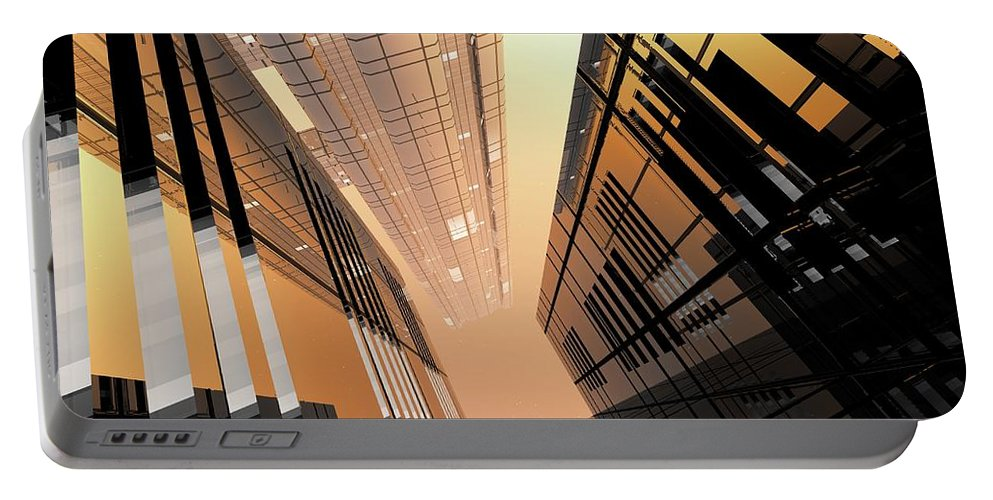 Abstractly Portable Battery Charger featuring the digital art Poster-city 2 by Max Steinwald
