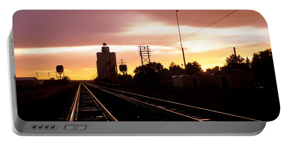 Potter Portable Battery Charger featuring the photograph Potter Tracks by Jerry McElroy