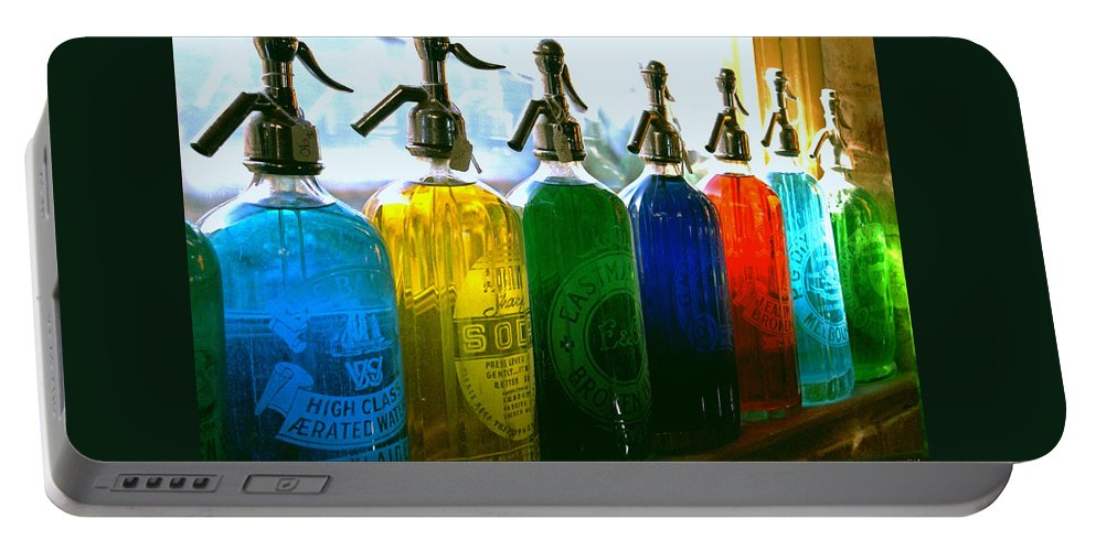 Food And Beverage Portable Battery Charger featuring the photograph Pour Me A Rainbow by Holly Kempe