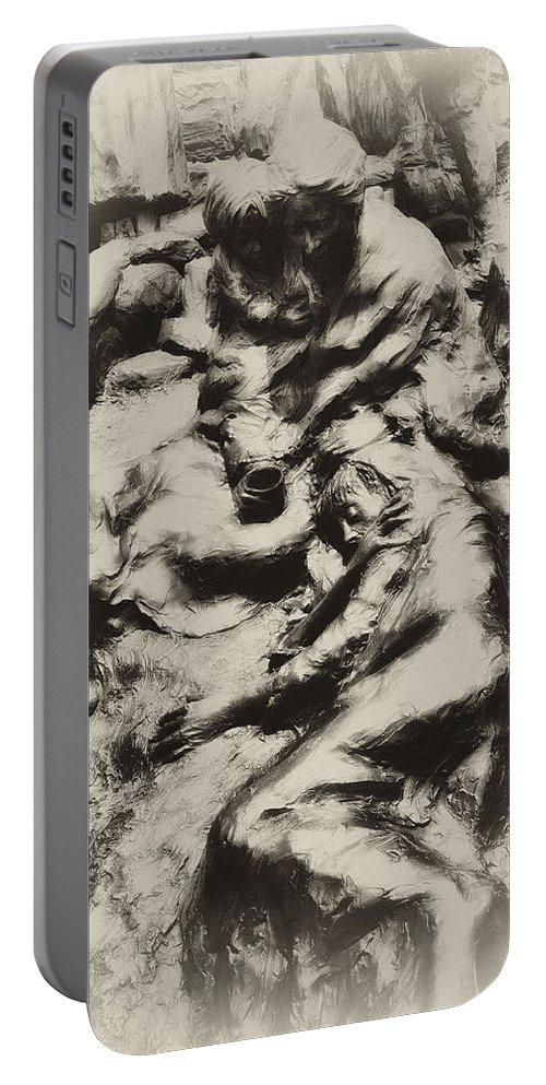 Philadelphia Portable Battery Charger featuring the photograph Poverty by Bill Cannon