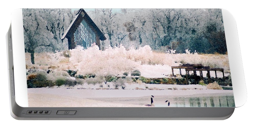 Landscape Portable Battery Charger featuring the photograph Powell Gardens Chapel by Steve Karol