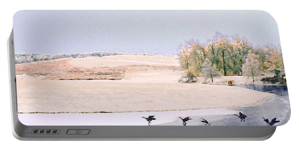 Landscape Portable Battery Charger featuring the photograph Powell Gardens In Winter by Steve Karol