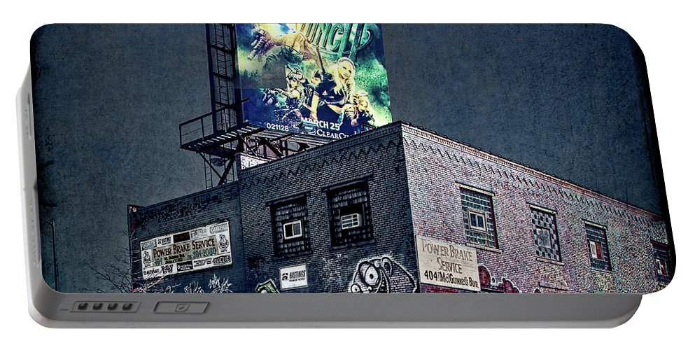 Graffiti Portable Battery Charger featuring the photograph Power Brakes by Chris Lord