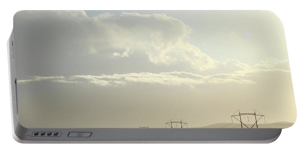 Power Lines Portable Battery Charger featuring the photograph Power by Kat Cortez