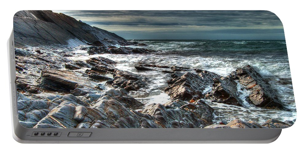 Atlantic Portable Battery Charger featuring the photograph Power Of The Atlantic by Rob Hawkins