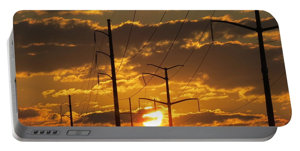 Sunrise Portable Battery Charger featuring the photograph Power2power by Michelle Thorns