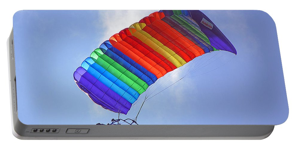 Parasail Portable Battery Charger featuring the photograph Powered Parasailing 1 by Kenneth Albin