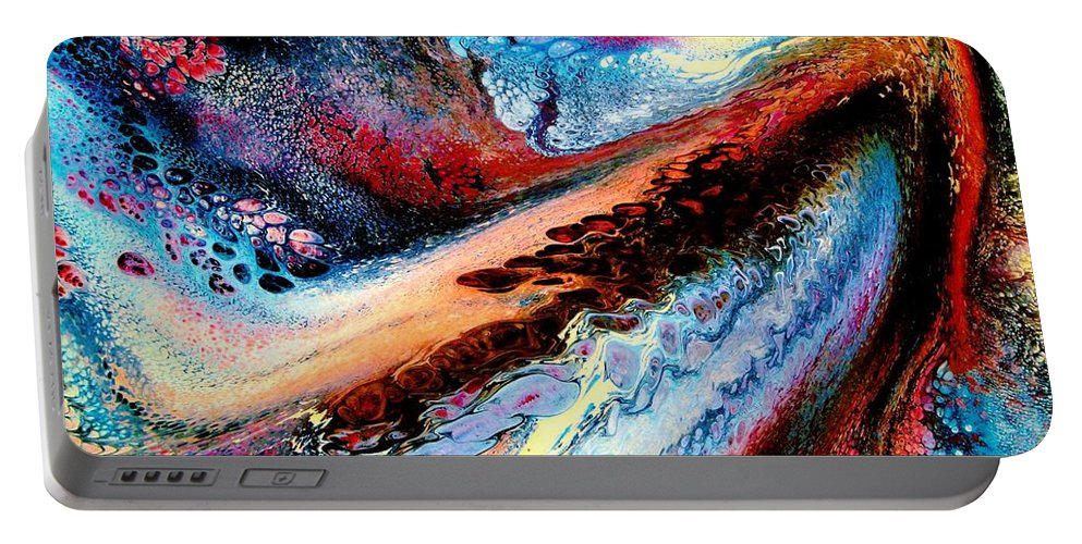 Energy Portable Battery Charger featuring the painting Powerful Force by Natalie Holland