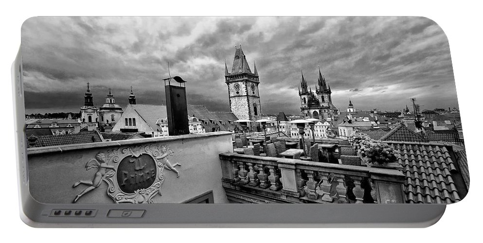 Prague Portable Battery Charger featuring the photograph Prague View From The Top by Madeline Ellis