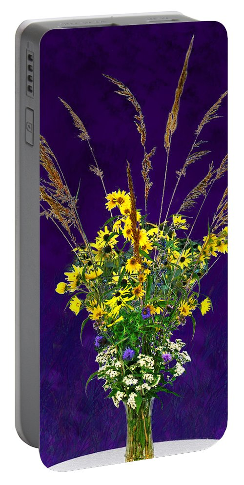 Flowers Portable Battery Charger featuring the photograph Prairie Bouquet by Steve Karol