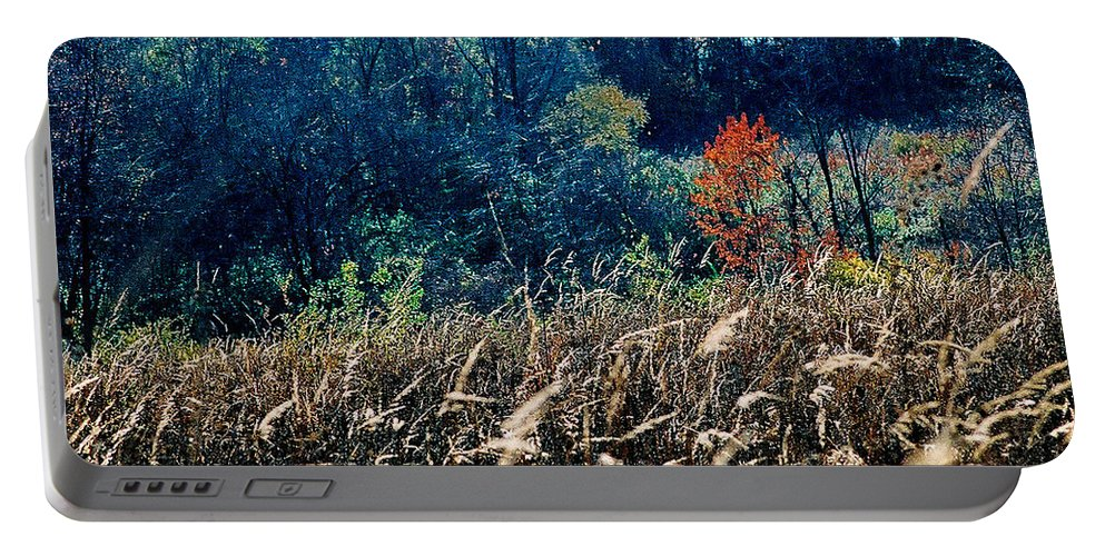 Landscape Portable Battery Charger featuring the photograph Prairie Edge by Steve Karol