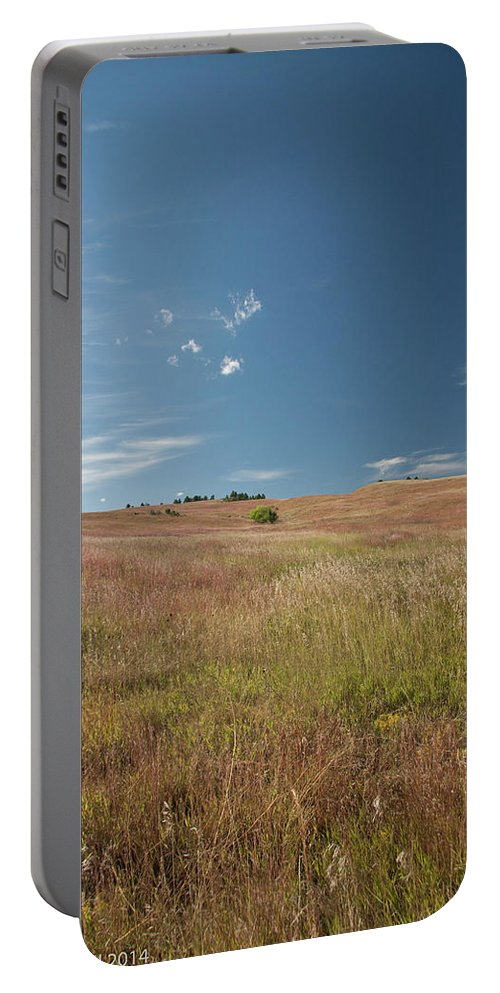 Nature Portable Battery Charger featuring the photograph Prairie Sky by Deanna Paull