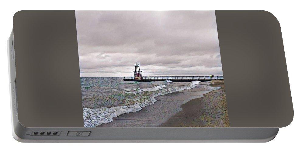 Pratt Pier Portable Battery Charger featuring the photograph Pratt Pier by Louis Perlia