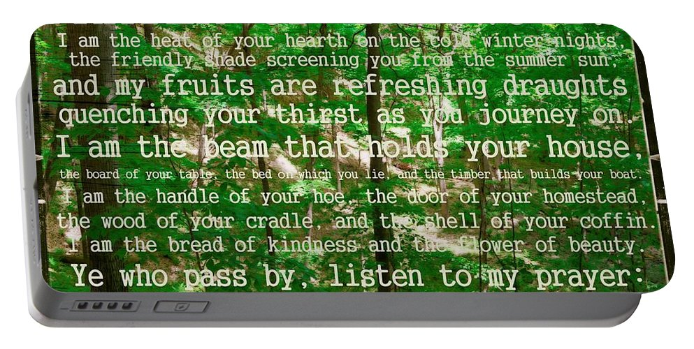 Prayer Portable Battery Charger featuring the photograph Prayer Of The Woods 2.0 by Michelle Calkins