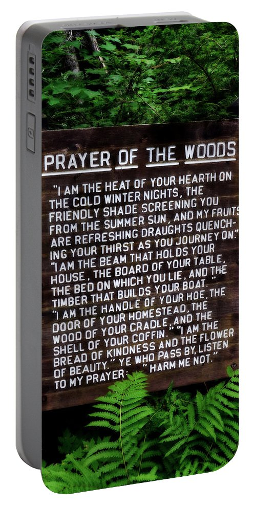 Prayer Portable Battery Charger featuring the photograph Prayer Of The Woods by Michelle Calkins