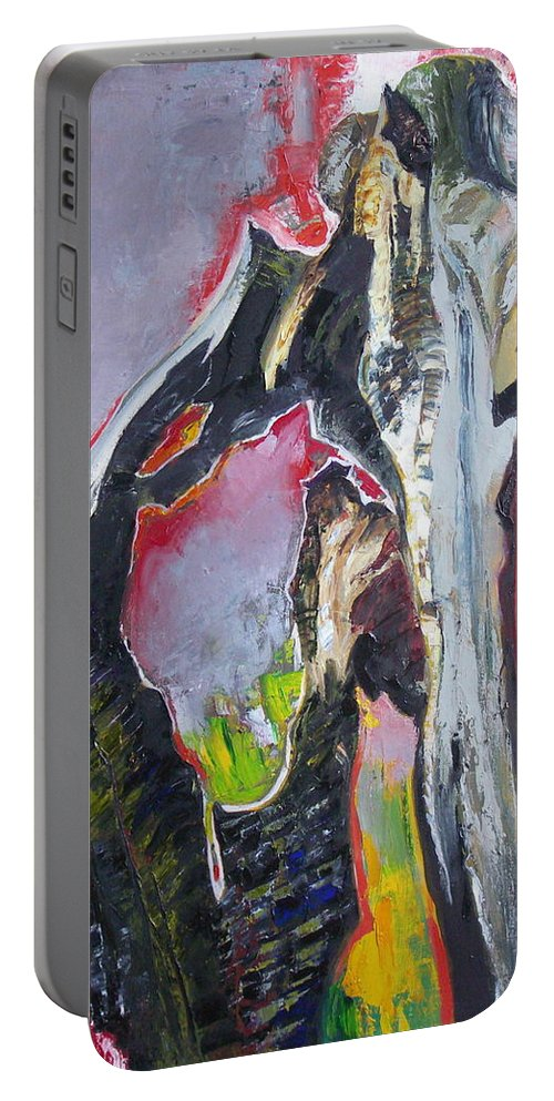 Oil Portable Battery Charger featuring the painting Presentiment by Sergey Ignatenko