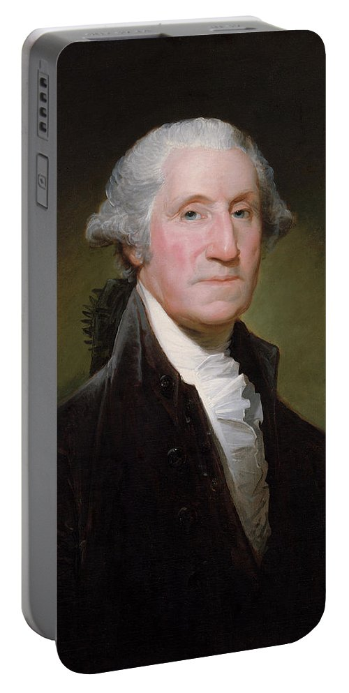 George Washington Portable Battery Charger featuring the painting President George Washington by War Is Hell Store